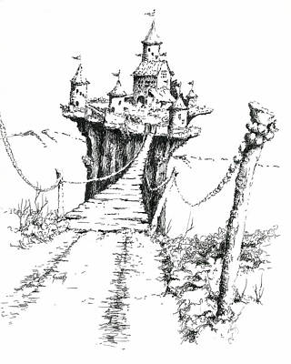 Drawing - Bridge To Elipod by Sam Sidders