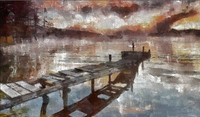 Art Print featuring the painting Bridge To Eternity by Georgi Dimitrov