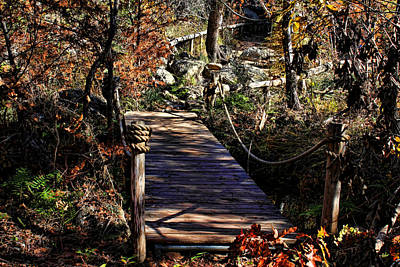 Photograph - Bridge To Hamilton Pool by Judy Vincent