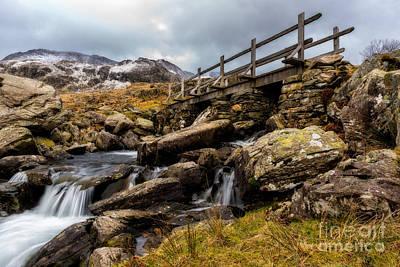 Snow Digital Art - Bridge To Idwal by Adrian Evans
