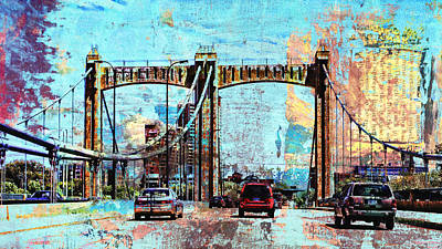 Mississippi River Digital Art - Bridge To Minneapolis by Susan Stone