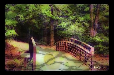 Photograph - Bridge To Nowhere by Maria Urso