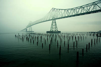 Fog Photograph - Bridge To Nowhere by Todd Klassy