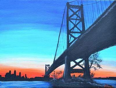 Philadelphia Pa Painting - Bridge To Philly by Jennifer Virgin