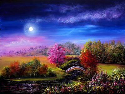 Landscape Painting - Bridge To Springtime by Ann Marie Bone
