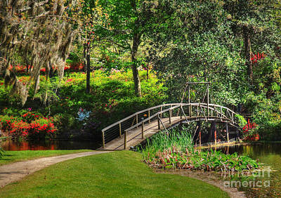 Photograph - Bridge To The Azalea Gardens by Kathy Baccari