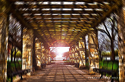 Art Print featuring the photograph Bridge To The Light From The Series The Imprint Of Man In Nature by Verana Stark
