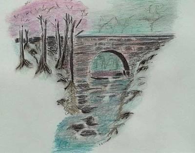 Drawing - Bridge by Tom Cook