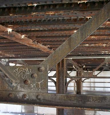 Photograph - Bridge Underpass Metal 2 by Anita Burgermeister