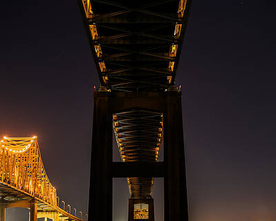 504 Photograph - Greater New Orleans Bridge  by Tom Pumphret
