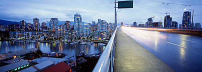 Harbor Dock Photograph - Bridge, Vancouver, British Columbia by Panoramic Images