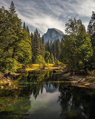 Bridge View Half Dome Art Print by Peter Tellone