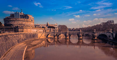 Photograph - Bridge Waterway In Rome by Matthew Onheiber