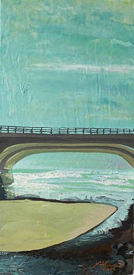 La Jolla Art Painting - Bridge Where Waters Meet by Joseph Demaree