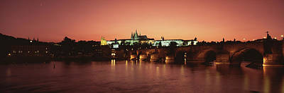 Vltava Photograph - Bridge With A Church And A Castle by Panoramic Images