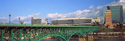 Tennessee River Photograph - Bridge With Buildings by Panoramic Images