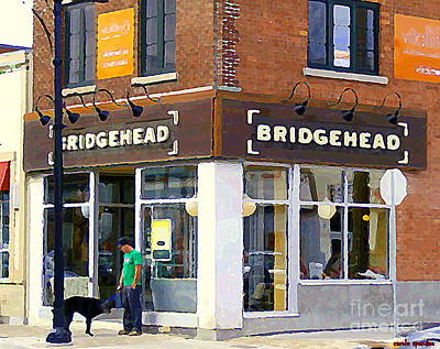 Painting - Bridgehead Brunch Bar On Bank Glebe Coffeehouse Restaurant Ottawa  Streetscenes Paintings Cspandau  by Carole Spandau