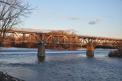 Bridgeport - Norristown Train Bridge Print by Bill Cannon