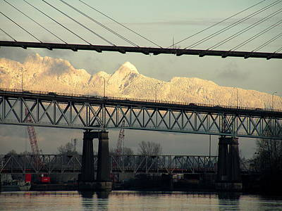 Photograph - Bridges And Mountains by Brian Chase
