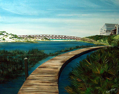 Painting - Bridges At Watersound by Racquel Morgan