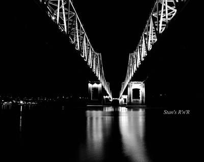 Bridges B W Art Print by Stan  Smith