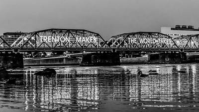 Landscapes Royalty-Free and Rights-Managed Images - Trenton Makes Bridge by Louis Dallara