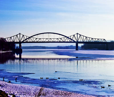 Bridges Over The Mississippi Art Print