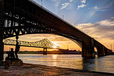 Hyatt Hotel Photograph - Bridges Over The Mississippi by Gregory Ballos