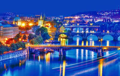 Prague Czech Republic Photograph - Bridges To Dream by Midori Chan