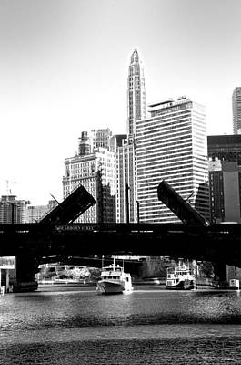 Photograph - Bridges Up In Black And White by Sheryl Thomas