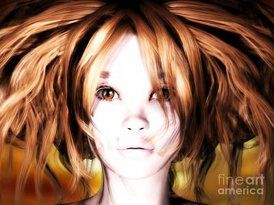 Digital Art - Bridget by Sandra Bauser Digital Art