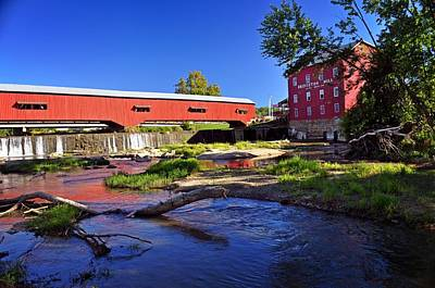 Bridgeton Covered Bridge 4 Art Print by Marty Koch