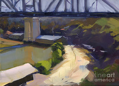 Painting - Bridging Gaps After Colley Whisson by Nancy  Parsons