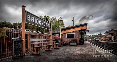 Rail Digital Art - Bridgnorth Railway Station by Adrian Evans