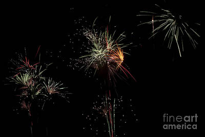 Colourfull Photograph - Bridlington Rufc Firework Display Seven by David  Hollingworth