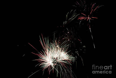 Colourfull Photograph - Bridlington Rufc Firework Display Two by David  Hollingworth