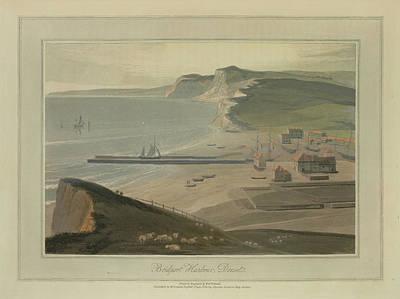 Bridport Harbour Art Print by British Library