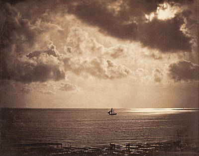 Realistic Art Photograph - Brig Upon The Water by Gustave Le Gray