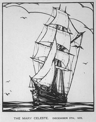 Nova Scotia Drawing - Brigantine Built In Nova  Scotia by Mary Evans Picture Library