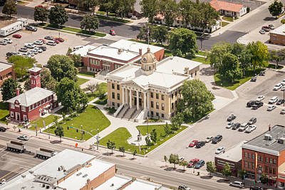 Photograph - Brigham City Courthouse by John Ferrante