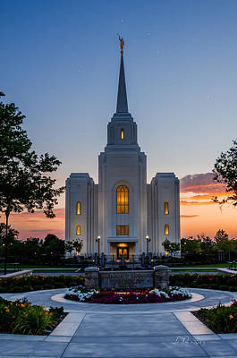Utah Temple Photograph - Brigham City Dipper Temple by La Rae  Roberts
