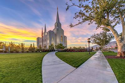 Photograph - Brigham City Sunset by Dustin  LeFevre