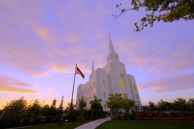 Jesus Photograph - Brigham City Temple I by Chad Dutson