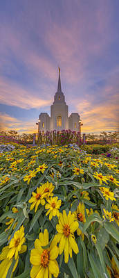 Photograph - Brigham City Temple Vertical Panorama by Dustin  LeFevre