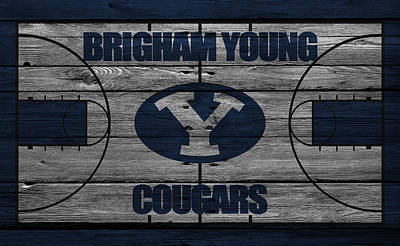 Coach Photograph - Brigham Young Cougars by Joe Hamilton