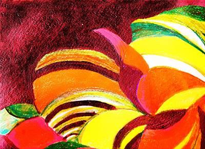 Bright Abstraction Art Print by Anne-Elizabeth Whiteway