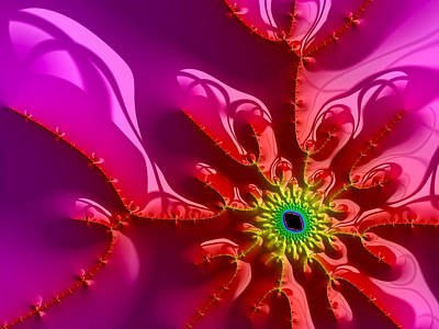 Tool Paintings - Bright and colorful digital abstract fractal artwork purple and red by Matthias Hauser