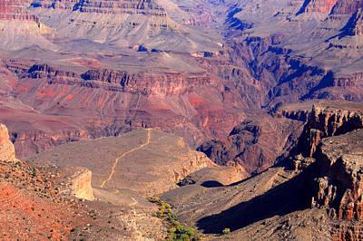 Photograph - Bright Angel Trail Grand Canyon Arizona by Aidan Moran