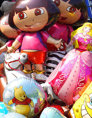 Photograph - Bright Balloons by Wendy Le Ber