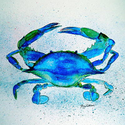 Painting - Bright Blue Crab  by Nancy Patterson
